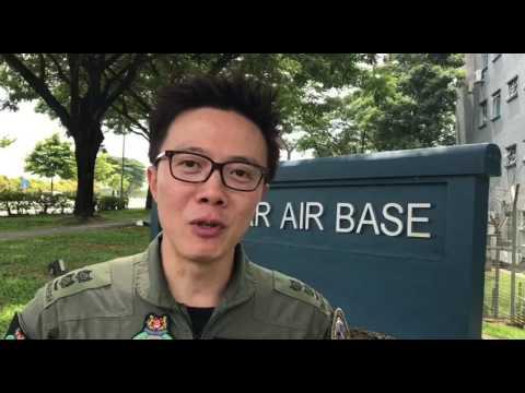 Senior Lieutenant Colonel Goh Sim Aik talking about the F-15SG fighter jets