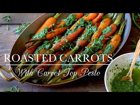 Roasted Carrots with Carrot Tops Pesto  Kitchen Vignettes  PBS Food