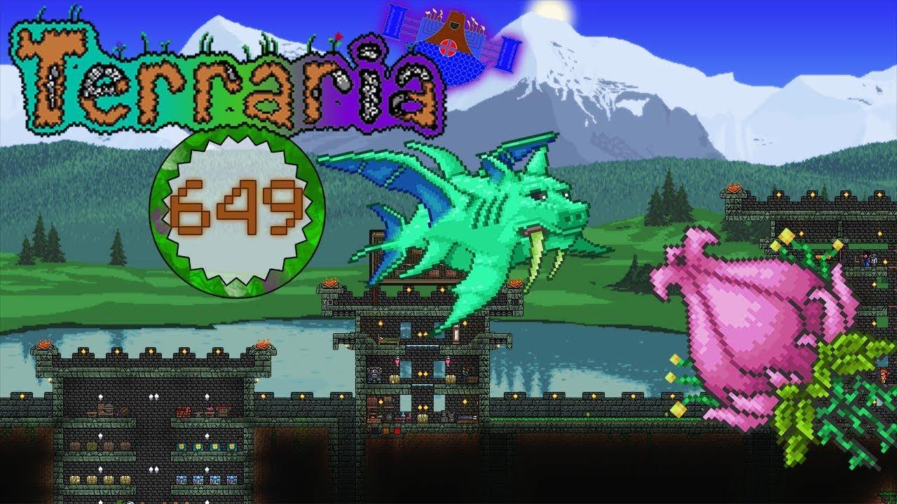 Terraria Part 649 Enraged Plantera And Enraged Duke Fishron No Armor Youtube