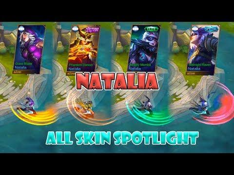 Mobile Legends Natalia All Skin Spotlight