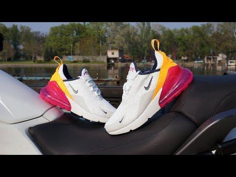 be9b25ee0e4d4 Nike Air Max 270 Summit White Laser Fuchsia AH6789-106 - YouTube