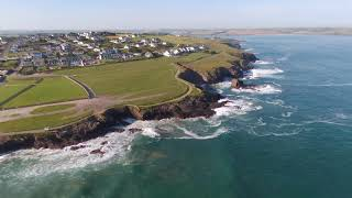 Polzeath Beach Cornwall England as filmed by #BathDroneBoy June 2020 Covid Lockdown