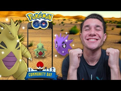 NEW SHINY TYRANITAR! Larvitar Community Day in Pokémon GO!
