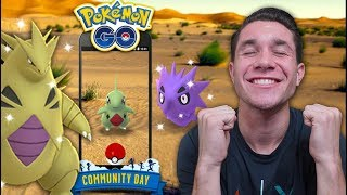 NEW SHINY TYRANITAR! Larvitar Community Day in Pokémon GO!