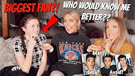 My BIGGEST FAN vs My OLDEST FRIEND!! Who would know me better? 😱