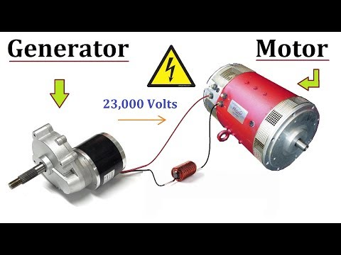 24V DC Motor to 220V Electric Generator 120W at Low RPM - Amazing