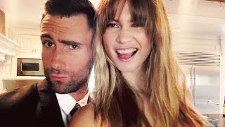 behati prinsloo levine adam levine cute silly moments