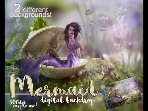 Mermaid - how to add your face to the digital background