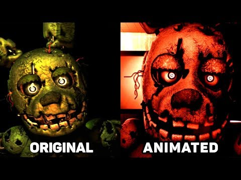 Five Nights at Freddy's 3 Jumpscares Original vs. Animated