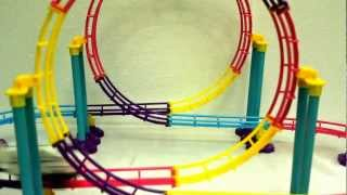 Giant Roller Coaster Bullet Train Game, Turns Over & Over In Space. Very Attractive Toy