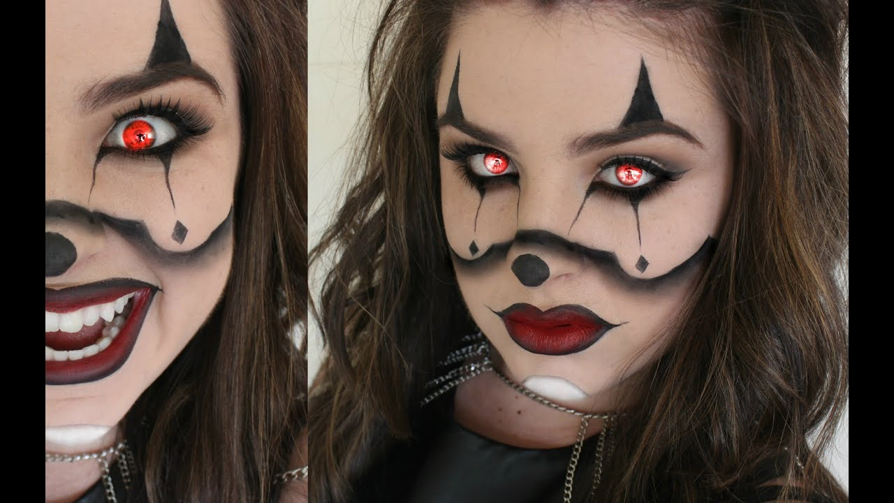 psychotic evil gangster clown halloween makeup tutorial chrisspy inspired youtube. Black Bedroom Furniture Sets. Home Design Ideas