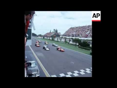 SYND 26/01/71 CHRIS AMON OF NEW ZEALAND WINNING THE ARGENTINE GRAND PRIX, IN BUENOS AIRES