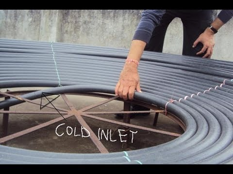 Solar Water Heater Simplified To Insure Free Energy Youtube