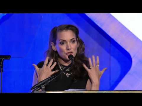Winona Ryder ducing 2016 IFP Gotham Tributee Ethan Hawke