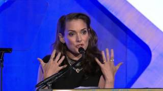 Winona Ryder introducing 2016 IFP Gotham Tributee Ethan Hawke