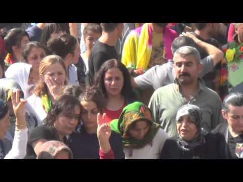 YPG'li Rojhat Kahraman'ın cenaze töreni