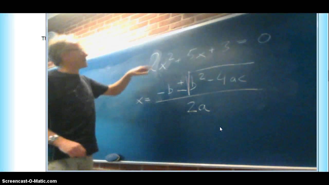 2.gradsligninger - del 2 ( opgave )