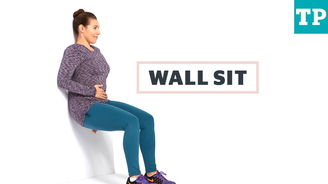 Wall sit | Exercise after C-section - YouTube
