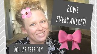 HAiR BOW HOLDER | DOLLAR TREE DiY -ONLY $3