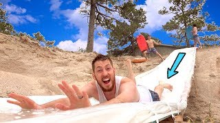 We Built A HUGE Water Slide In Our Backyard!