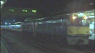 落雷による停電の中を行く EF63 EF62 JR 信越本線 横川駅にて   1997/8/2    DV77