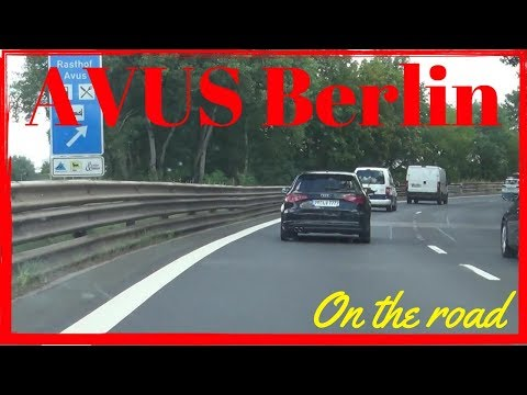 Autobahn A115 AVUS Berlin Germany (2/2) Northbound | On The Road