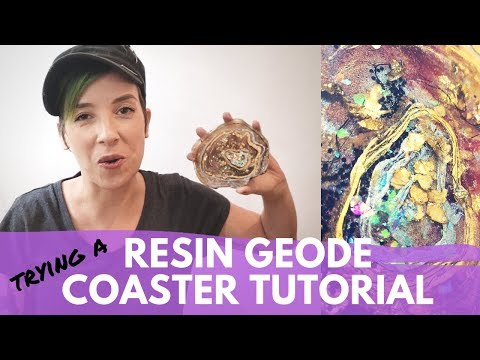 Trying a Resin Geode Coaster Tutorial | DIY FAIL or WIN?