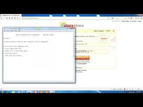 How to register ans uploade file on zippyshare / NEW update/ Free register