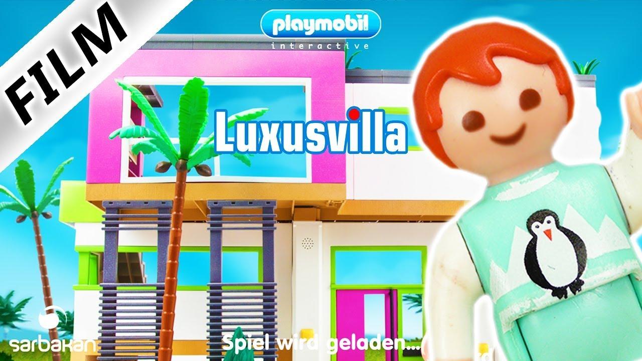 EMMA SPIELT PLAYMOBIL LUXUSVILLA App deutsch   Wo ist die Familie Vogel?  Kinderzimmer ein Sportraum?