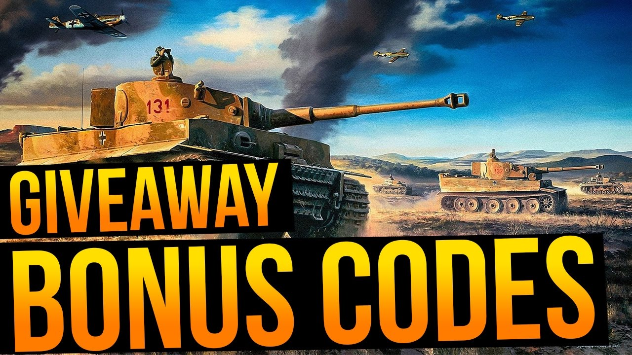 giveaway codes world of tanks