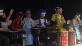 Spectacle africain percussions enfants 6-12 ans