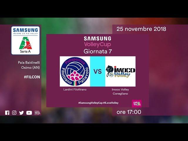 Filottrano - Conegliano   Speciale   7^ Giornata   Samsung Volley Cup 2018/19