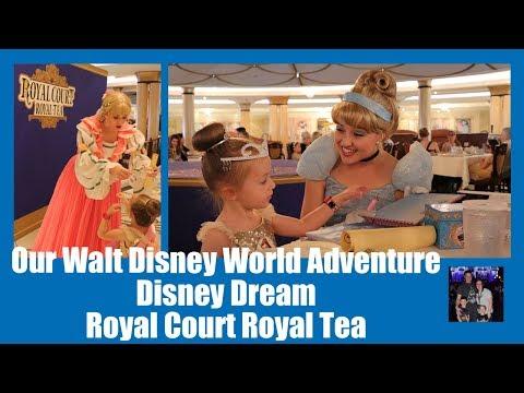 Our Walt Disney World Adventure - Day 6 Part 2 - Disney Dream - Royal Court Royal Tea VLOG