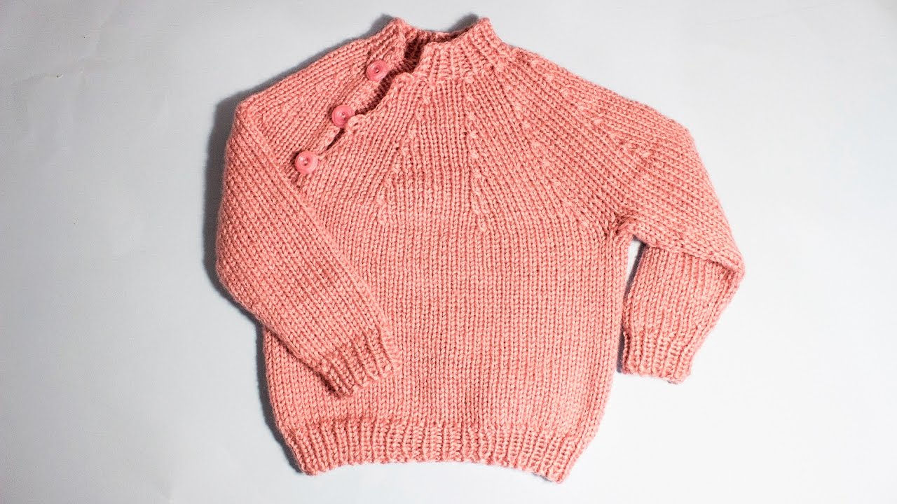 b922a32b0e1e How to knit an easy baby sweater from 1 year old WIKA Crochet - YouTube