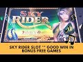SKY RIDER SLOT WITH LOWER BET * GOOD WIN IN BONUS FREE GAMES - SunFlower Slots