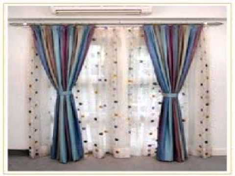 Double curtain rods youtube - Curtains designs images ...