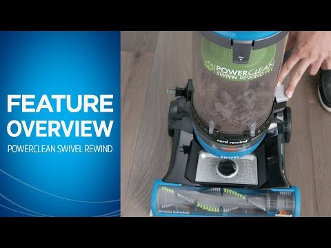 PowerClean® Swivel Rewind Pet Vacuum Cleaner Overview   BISSELL
