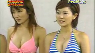 水着でブリッチ 水着美女 日本のバラエティー番組 Buritchi swimsuit be...
