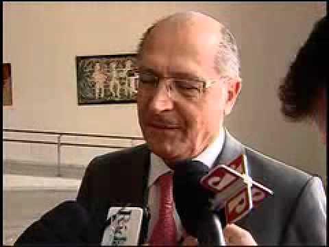 Alckmin dá entrevista coletiva durante visita do Príncipe Albert II de Mônaco