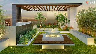 Backyard Interior Design Ideas | Patio Roof Outdoor Garden | Small Backyard Seating Deck Design