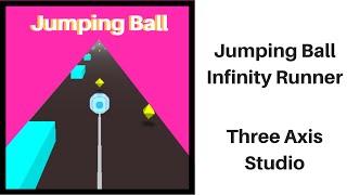 Jumping Ball Infinity Runner hyper casual game