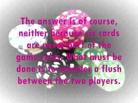 Rules Of Texas Holdem Ties