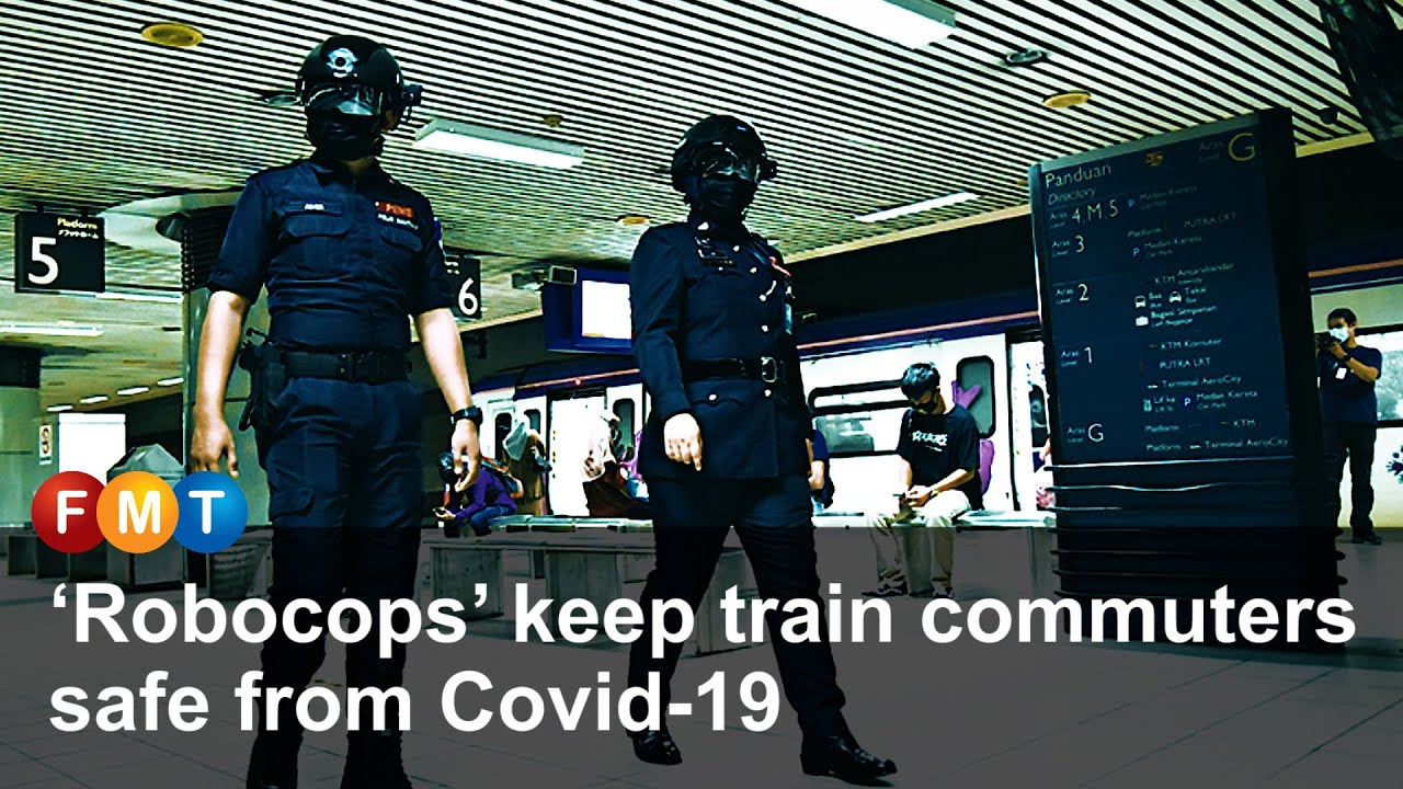 'Robocops' keep train commuters safe from Covid 19