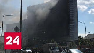 В Москве на Новом Арбате горит одна из высоток