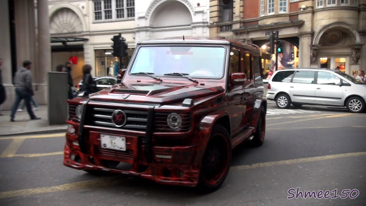 Hamann Typhoon G500 G Class - Driving Scenes in London ...