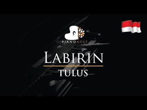TULUS - Labirin (Indonesian Song) - Piano Karaoke / Sing Along Cover With Lyrics
