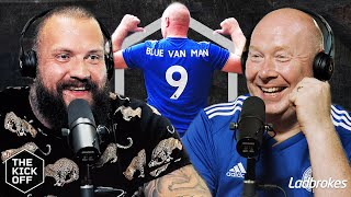 True Geordie meets Blue Van Man
