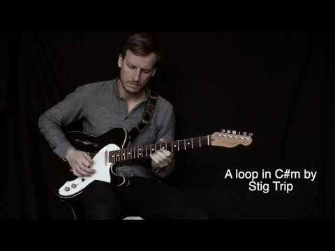 Guitar loop with delay pedal