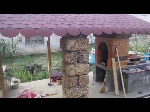 обалденная беседка с мангалом  gazebo with BBQ grill