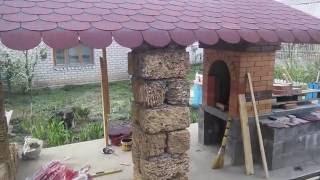 обалденная беседка с мангалом  gazebo with BBQ grill(Инструкция строительства беседки. Летняя беседка со встроенным мангалом.Идея заключается в том,что колонн..., 2016-05-26T17:36:59.000Z)